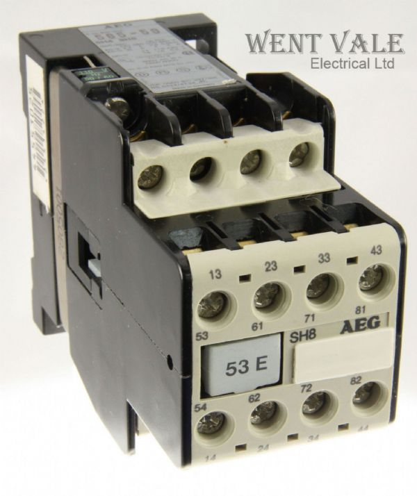 AEG SH8-53E-585-58 - 20a  Eight Pole Control Relay 110vac Coil Un-used